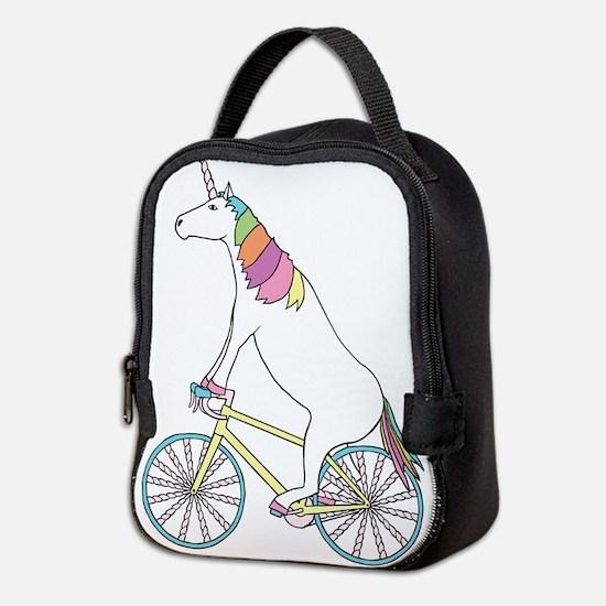 Unicorn Riding Bike With Unicor Neoprene Lunch Bag