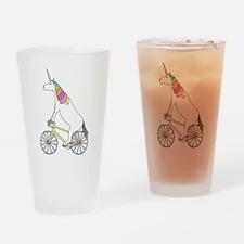 Unicorn Riding Bike With Unicorn Ho Drinking Glass