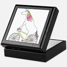 Unicorn Riding Bike With Unicorn Horn Keepsake Box