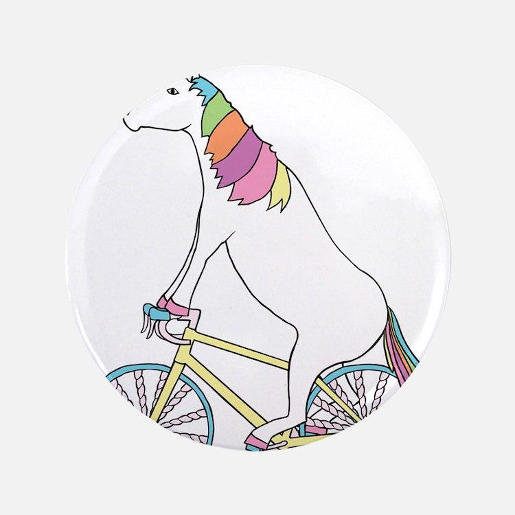 Unicorn Riding Bike With Unicorn Horn Spoke Button