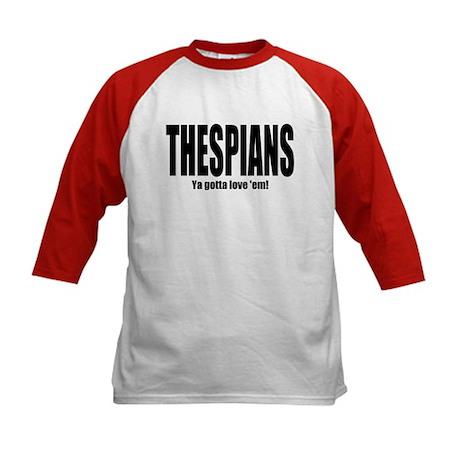 """ThMisc """"Thespians"""" Kids Baseball Jersey"""