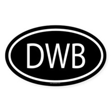 DWB Oval Decal