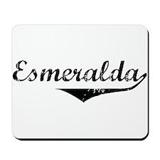 Esmeralda Vintage (Black) Mousepad