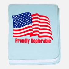 Proudly deplorable baby blanket