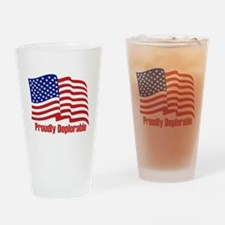 Proudly deplorable Drinking Glass