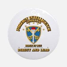 Foreign Intelligence Command - Ssi Round Ornament