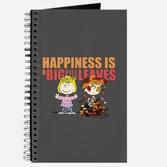 Peanuts Fall Leaves Journal