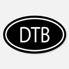 DTB Oval Bumper Stickers