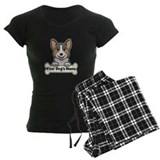 Black pembroke welsh corgi Pajama Sets