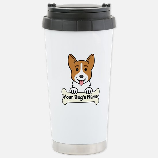 Personalized Corgi Stainless Steel Travel Mug