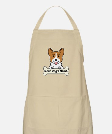 Personalized Corgi Apron