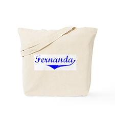 Fernanda Vintage (Blue) Tote Bag