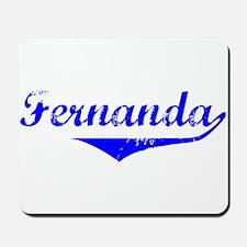 Fernanda Vintage (Blue) Mousepad