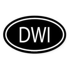 DWI Oval Decal