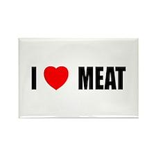 I Love Meat Rectangle Magnet