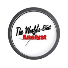 """""""The World's Best Analyst"""" Wall Clock"""