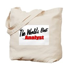 """The World's Best Analyst"" Tote Bag"
