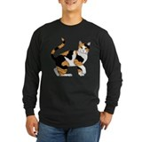Cat Long Sleeve T-shirts (Dark)