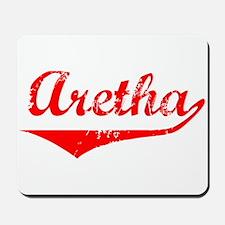 Aretha Vintage (Red) Mousepad