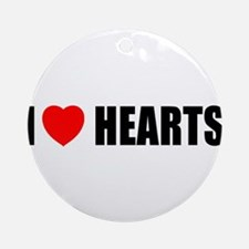I Love Hearts Ornament (Round)