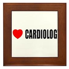 I Love Cardiology Framed Tile
