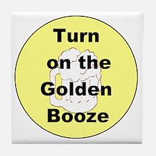 Cute Godfather beer Tile Coaster