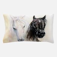 Horses Canvas Painting Pillow Case