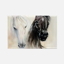 Horses Canvas Painting Rectangle Magnet