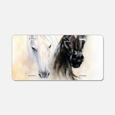 Horses Canvas Painting Aluminum License Plate