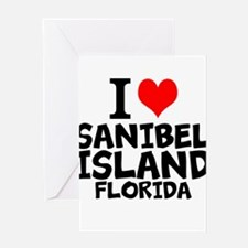 I Love Sanibel Island, Florida Greeting Cards