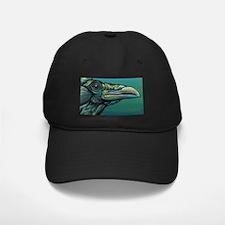 Rainbow Raven Crow Bird WildlifeArt Baseball Hat