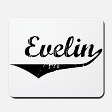 Evelin Vintage (Black) Mousepad