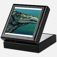 Rainbow Raven Crow Bird WildlifeArt Keepsake Box