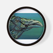 Rainbow Raven Crow Bird WildlifeArt Wall Clock
