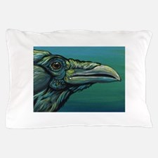 Rainbow Raven Crow Bird WildlifeArt Pillow Case