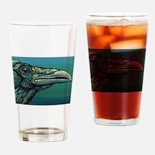Rainbow Raven Crow Bird WildlifeArt Drinking Glass