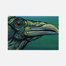 Rainbow Raven Crow Bird WildlifeArt Magnets