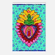 Pink Guadalupe Milagro Postcards (Package of 8)