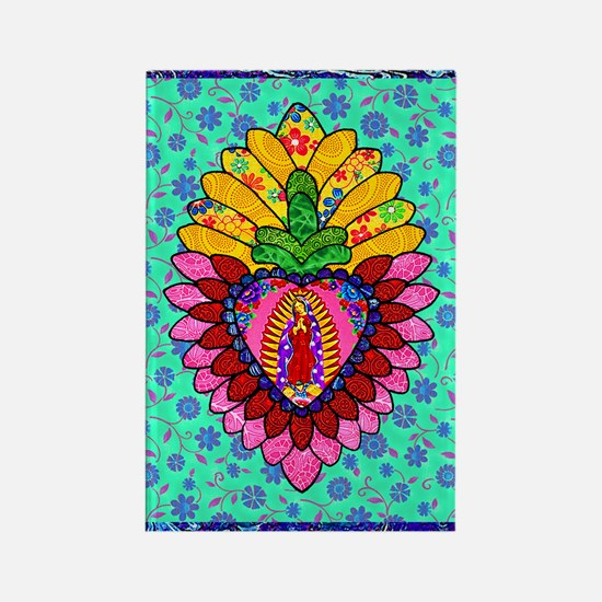 Pink Guadalupe Milagro Rectangle Magnet