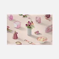 Girl's Pink Dream Rectangle Magnet