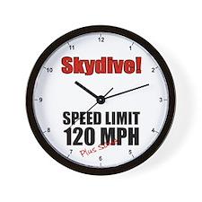 Speed Limit 120 MPH Clock