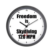 Freedom is Skydiving Clock