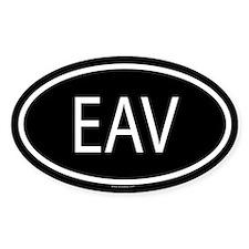 EAV Oval Decal