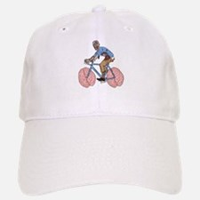 Zombie Riding Bike With Brain Wheels Baseball Baseball Cap