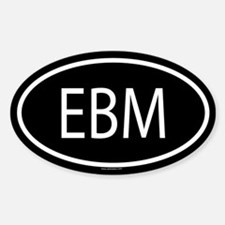 EBM Oval Decal