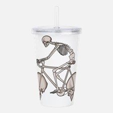 Skeleton Riding Bike W Acrylic Double-wall Tumbler