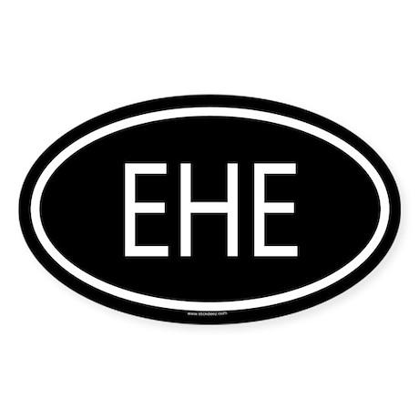 EHE Oval Sticker