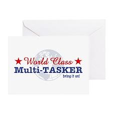 World Class Multi-Tasker Greeting Card