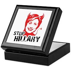 STOP HILLARY Keepsake Box