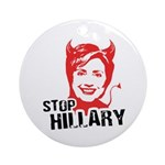 STOP HILLARY Ornament (Round)